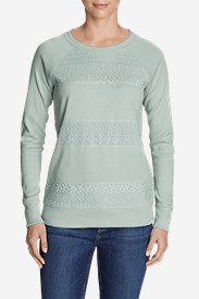 Women's Legend Wash Sweatshirt - Crochet Stripes