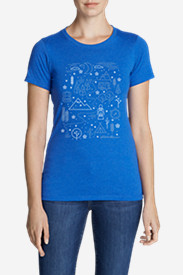 Women's Graphic T-Shirt - Winter Emojis