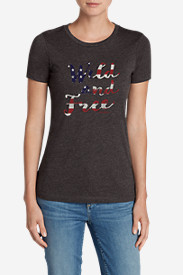 Women's Triblend Crew T-Shirt - Wild And Free In The USA