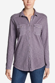 Women's Ravenna Long-Sleeve Button-Front Shirt - Boyfriend