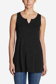 Women's Favorite Notched-Neck Tunic Tank Top