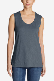 Women's Essential Slub Sleeveless Scoop-Neck Tunic Tank Top - New