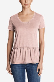 Women's Gypsum Short-Sleeve Peplum T-Shirt
