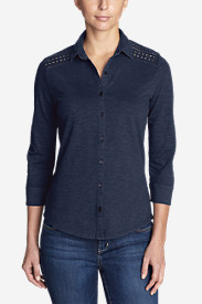 Women's Ravenna 3/4-Sleeve Eyelet Shirt
