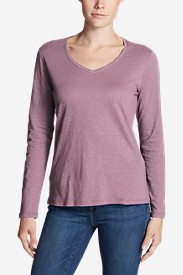 Women's Legend Wash Slub Long-Sleeve V-Neck