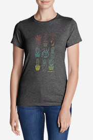 Women's Graphic T-Shirt - Ombré Succulents
