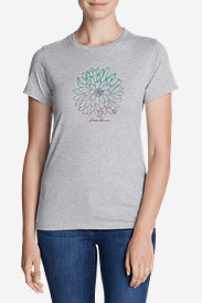 Women's Graphic T-Shirt - Ombré Flower