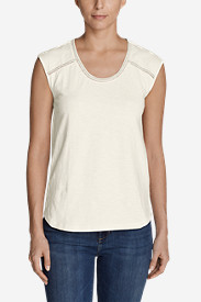 Women's Mountain Meadow Sleeveless Stitch-Detail T-Shirt