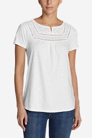 Women's Lola Short-Sleeve Split-Neck Shirt
