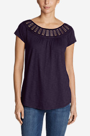 Women's Lola Short-Sleeve Lace Scoop-Neck Shirt
