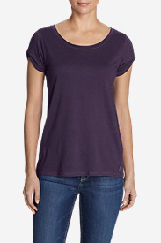 Women's Gate Check Short Twist-Sleeve Top