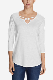 Women's Gate Check 3/4-Sleeve Cross-Front Tunic