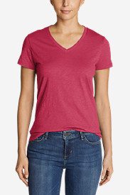 Women's Essential Slub Short-Sleeve V-Neck T-Shirt - New