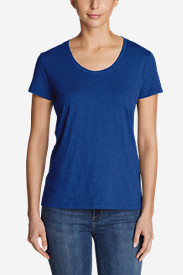 Women's Essential Slub Short-Sleeve Scoop-Neck T-Shirt - New