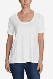 Women's Legend Wash Slub Short-Sleeve Scoop-Neck High-Low Top