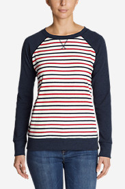 Women's Legend Wash Crew Sweatshirt - Stripe Block