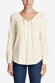 Women's Willow Long-Sleeve Smocked Top