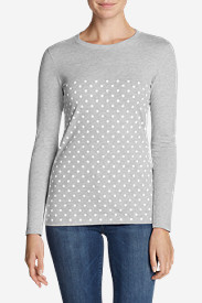 Women's Graphic Long-Sleeve T-Shirt - Polka Dots