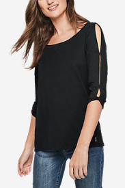 Women's Gate Check 3/4-Twist Sleeve Shirt