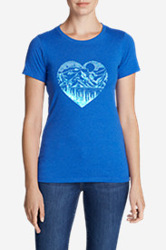 Women's Graphic T-Shirt - Mountain Heart
