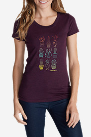 Women's Graphic T-Shirt - Ombré Succulent