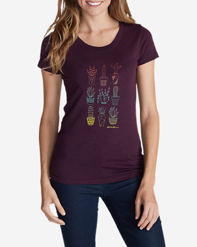 Women's Graphic T-Shirt - Ombr Succulent