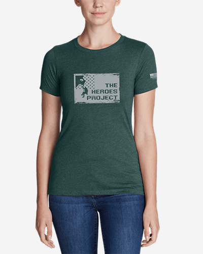 Women's Graphic T Shirt   The Heroes Project by Eddie Bauer