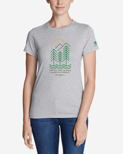 Women's Graphic T Shirt   American Forests by Eddie Bauer
