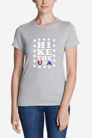 Women's Graphic T-Shirt - Hike The USA