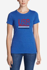 Women's Graphic T-Shirt - Red, White, and Blue