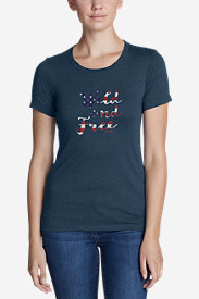 Women's Graphic T-Shirt - Wild and Free USA