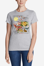 Women's Graphic T-Shirt - Multi Animal