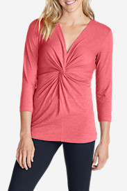 Women's Girl On The Go® 3/4-Sleeve Twist Top
