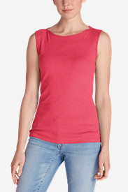 Women's Favorite Sleeveless Bateau Top