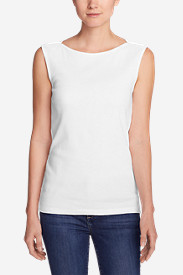 Cotton Tops for Women: Women's Favorite Sleeveless Bateau Top