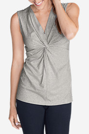 Cotton Tops for Women: Women's Girl On The Go® Sleeveless Twist V-Neck Top