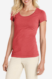 Red Tees for Women: Women's Lookout Short-Sleeve T-Shirt - Solid
