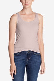 Women's Tissue Long Layering Tank - Solid