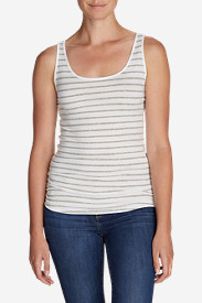 Pima Long Tank Top - Stripe