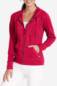 Plus Size Hoodies for Women: Women's Full-Zip Embroidered Hoodie