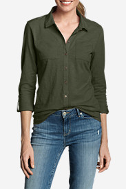 Women's Essential Slub Button-Down Shirt
