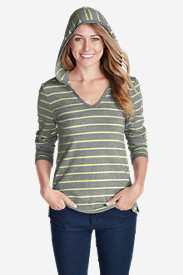 Women's Favorite V-Neck Hoodie - Stripe