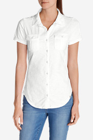 Petite Tops for Women: Women's Ravenna Short-Sleeve Button-Front Shirt