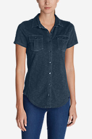 Button-Down Tops for Women: Women's Ravenna Short-Sleeve Button-Front Shirt