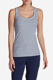 Spandex Tank Tops for Women: Women's Lookout 2x2 Tank Top - Stripe