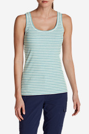 Comfortable Tank Tops for Women: Women's Lookout 2x2 Tank Top - Stripe