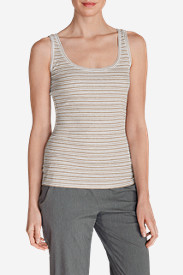 Graphic Tank Tops for Women: Women's Lookout 2x2 Tank Top - Stripe