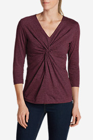 Women's Girl On The Go® 3/4-Sleeve Twist-Front Top