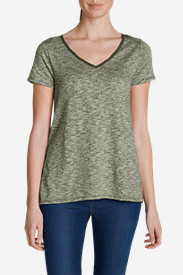 Green Tops for Women: Women's Lake Serene Short-Sleeve Top