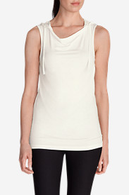 Cotton Tops for Women: Women's Misty Sleeveless Hoodie